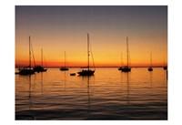 Sunset Boats Fine Art Print