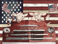 Patriotic Cows Fine Art Print