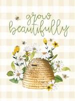 Grow Beautifully Beehive Fine Art Print