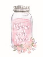 Bloom with Grace Jar Fine Art Print