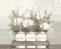 White Flower Jars Fine Art Print