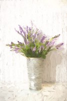 Lavender on White Fine Art Print