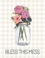 Bless This Mess Flowers Fine Art Print