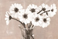 Greige Floral Fine Art Print