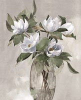 Floral in Gray Fine Art Print