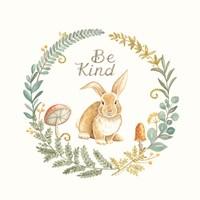 Be Kind Rabbit Framed Print