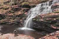 Peaceful Day at Mohican Falls Fine Art Print