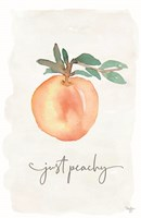 Just Peachy Framed Print