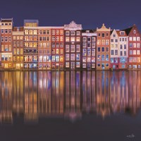 Building Row Reflections 1 Framed Print