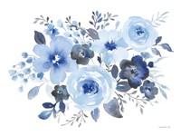 Fresh Blue Bower II Framed Print