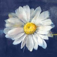 Boldest Bloom II Dark Blue Framed Print