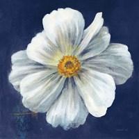 Boldest Bloom I Dark Blue Framed Print