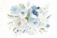 Essence of Spring II Blue Framed Print