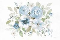 Essence of Spring I Blue Framed Print