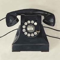 Classic Telephone on Cream Fine Art Print