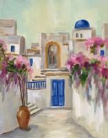 Santorini Street II Fine Art Print