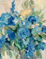 Flower Market III Blue Framed Print
