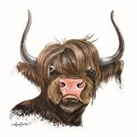 Clarabelle the Highland Cow Fine Art Print