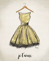 Je T'aime Dress Fine Art Print