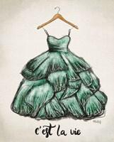 C'est La Vie Dress Fine Art Print