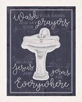 Wash Your Hands Framed Print
