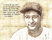 Lou Gehrig Sketch Fine Art Print