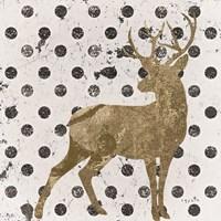 Forest Glam Deer Framed Print