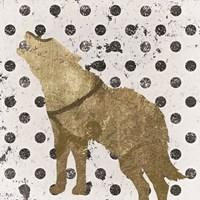 Forest Glam Wolf Framed Print