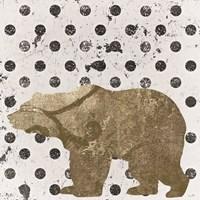 Forest Glam Bear Framed Print