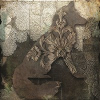 Gothic Forest Fox Framed Print