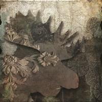 Gothic Forest Moose Framed Print