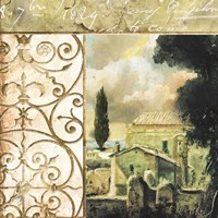 Tuscany Autumn III Framed Print
