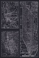 New York Street Map Fine Art Print