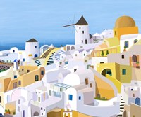 Greek Buildings I Fine Art Print