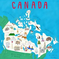 Illustrated Countries Canada Fine Art Print