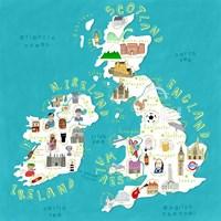 Illustrated Countries UK + Ireland Fine Art Print