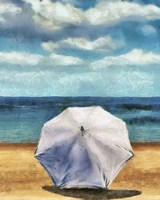 Beach Umbrella II Framed Print