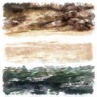 Beachside I Framed Print
