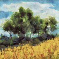 Mellow Yellow Landscape II Framed Print