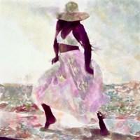 Her Colorful Dance II Framed Print