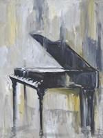 Piano in Gold I Fine Art Print