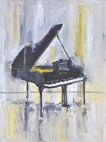 Piano in Gold II Fine Art Print