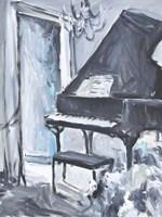 Piano Blues I Framed Print