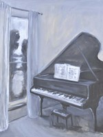 Piano Blues IV Framed Print