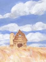 Wheatfield Barn II Framed Print