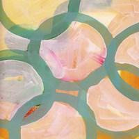 Aqua Circles IV Framed Print