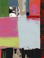 Pink Blocks III Framed Print