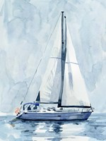 Lone Sailboat II Fine Art Print