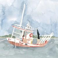 Bright Fishing Boat II Framed Print