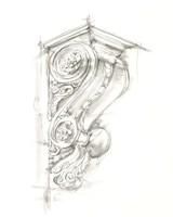 Corbel Sketch I Fine Art Print